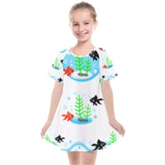 Fishbowl Fish Goldfish Water Kids  Smock Dress by Wegoenart