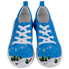 Elf On A Shelf In Sled Snowflakes Women s Lightweight Sports Shoes