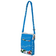 Elf On A Shelf In Sled Snowflakes Multi Function Travel Bag