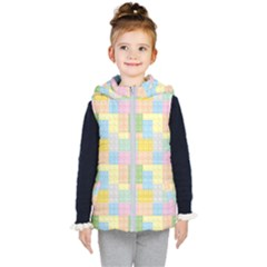 Lego Background Kid s Hooded Puffer Vest by Wegoenart