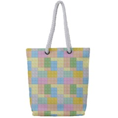 Lego Background Full Print Rope Handle Tote (small)