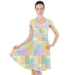 Lego Background Cap Sleeve Midi Dress