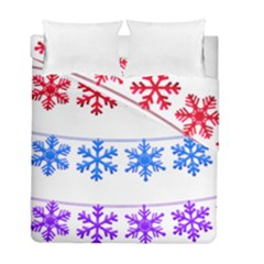 Christmas Snowflake Duvet Cover Double Side (full/ Double Size)