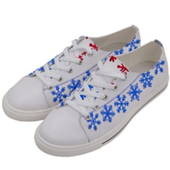Christmas Snowflake Women s Low Top Canvas Sneakers by Wegoenart