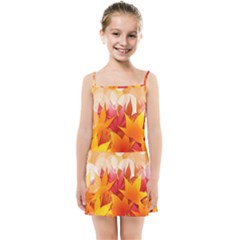 Autumn Background Maple Leaves Bokeh Kids Summer Sun Dress