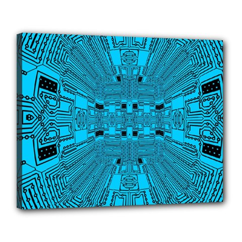 Technology Board Trace Digital Canvas 20  X 16  (stretched)