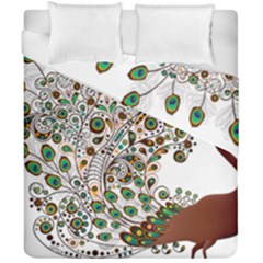 Peacock Graceful Bird Animal Duvet Cover Double Side (california King Size)