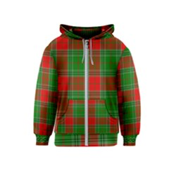 Lumberjack Plaid Buffalo Plaid Kids  Zipper Hoodie