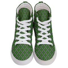 Lumberjack Plaid Buffalo Plaid Green White Men s Hi Top Skate Sneakers
