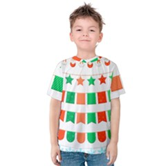Christmas Bunting Banners Tassel Kids  Cotton Tee