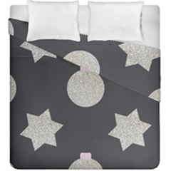 Star Silver Duvet Cover Double Side (king Size) by alllovelyideas