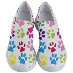 Paw Print Paw Prints Background Women s Lightweight Slip Ons