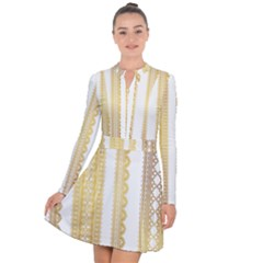 Lace Gold Euclidean Vector Long Sleeve Panel Dress