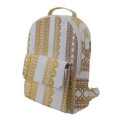 Lace Gold Euclidean Vector Flap Pocket Backpack (large) by Wegoenart