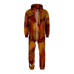 Leaves Pattern Hooded Jumpsuit (kids)