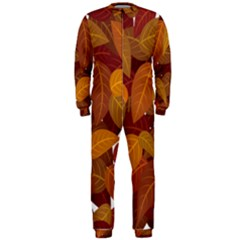 Leaves Pattern Onepiece Jumpsuit (men)