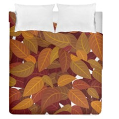 Leaves Pattern Duvet Cover Double Side (queen Size)