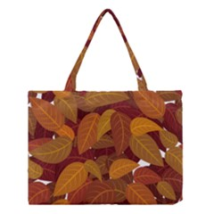 Leaves Pattern Medium Tote Bag