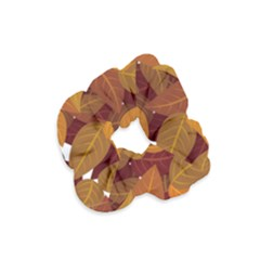 Leaves Pattern Velvet Scrunchie