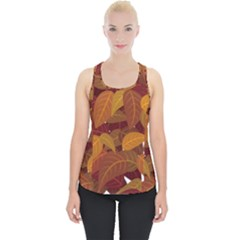 Leaves Pattern Piece Up Tank Top