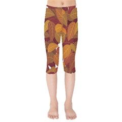 Leaves Pattern Kids  Capri Leggings