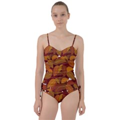 Leaves Pattern Sweetheart Tankini Set