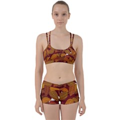 Leaves Pattern Perfect Fit Gym Set