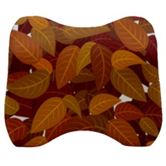 Leaves Pattern Velour Head Support Cushion