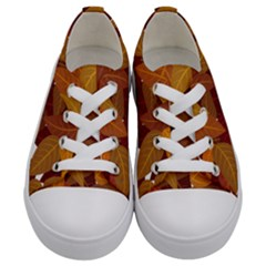 Leaves Pattern Kids  Low Top Canvas Sneakers