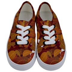 Leaves Pattern Kids  Classic Low Top Sneakers