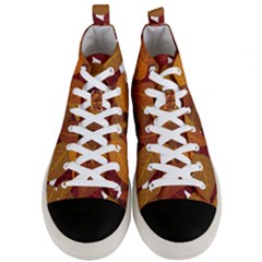 Leaves Pattern Men s Mid-top Canvas Sneakers