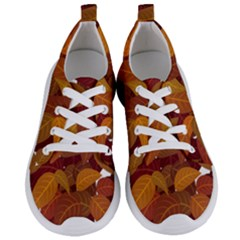 Leaves Pattern Women s Lightweight Sports Shoes