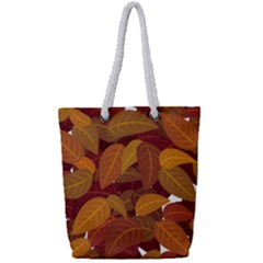 Leaves Pattern Full Print Rope Handle Tote (small)