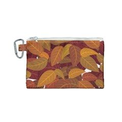 Leaves Pattern Canvas Cosmetic Bag (small)