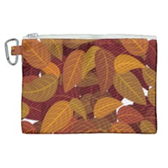 Leaves Pattern Canvas Cosmetic Bag (xl)