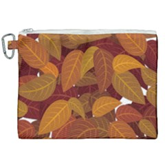 Leaves Pattern Canvas Cosmetic Bag (xxl)