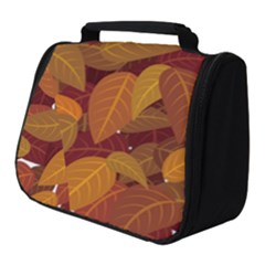 Leaves Pattern Full Print Travel Pouch (small)