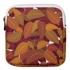 Leaves Pattern Mini Square Pouch
