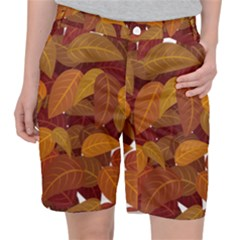 Leaves Pattern Pocket Shorts
