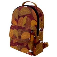 Leaves Pattern Flap Pocket Backpack (small)