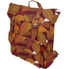 Leaves Pattern Buckle Up Backpack