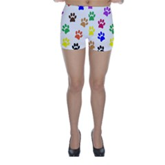 Pawprints Paw Prints Paw Animal Skinny Shorts by Wegoenart
