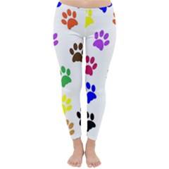 Pawprints Paw Prints Paw Animal Classic Winter Leggings by Wegoenart
