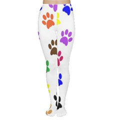 Pawprints Paw Prints Paw Animal Tights by Wegoenart