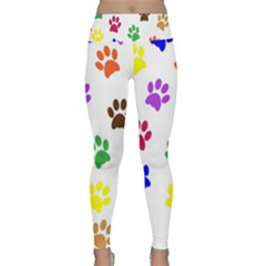 Pawprints Paw Prints Paw Animal Lightweight Velour Classic Yoga Leggings by Wegoenart