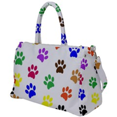 Pawprints Paw Prints Paw Animal Duffel Travel Bag