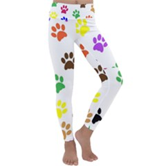 Pawprints Paw Prints Paw Animal Kids  Lightweight Velour Classic Yoga Leggings by Wegoenart
