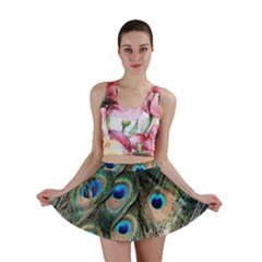 Peacock Feathers Bird Colorful Mini Skirt
