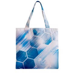 Hexagon Euclidean Vector Gradient Del  Blue Color Science And Technology Zipper Grocery Tote Bag