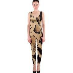 Animal Pattern Design Print Texture One Piece Catsuit